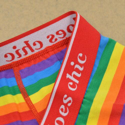 1x Men/'s Underwear Rainbow Striped Pride Gay LGBT Boxer Shorts Briefs M-XXXL