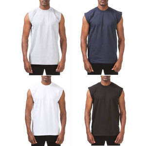 45be94c096c7e Image is loading 1-PROCLUB-HEAVYWEIGHT-SLEEVELESS-T-SHIRT-Mens-Plain-