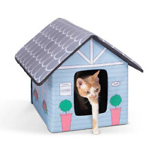 Outdoor Indoor Cat House By Pet Peppy 12lx18wx16h Inches Green For Sale Online Ebay