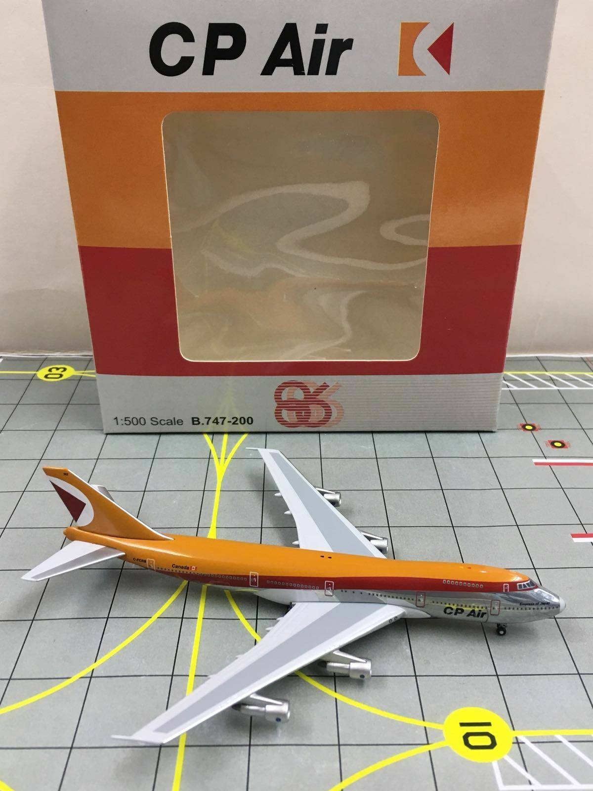 RARE Big Bird  Herpa Scale 1 500 CP Air Boeing 747-200 C-FCRB  Empress of Japan