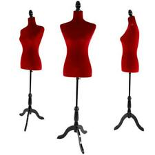 New Female Mannequin Torso Dress Form Display With Adjustable Tripod Stand Red Us