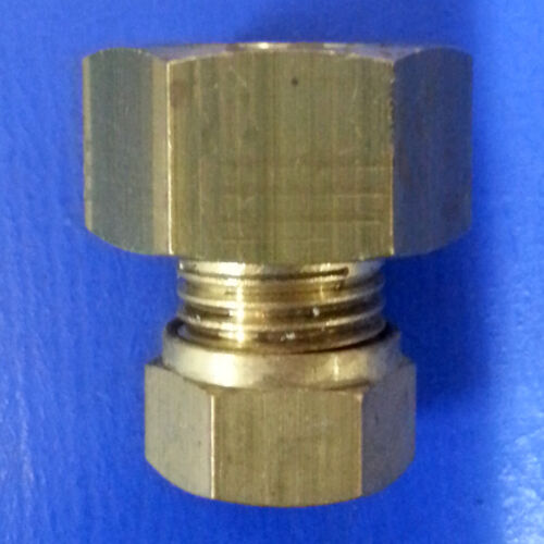 """8mm x 3//8/"""" FI Straight Compression Coupling Coupler #580"""
