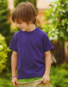 T-shirt-50x-enfants-FRUIT-OF-THE-LOOM-jeunes-filles-Chemise-Plusieurs-couleurs