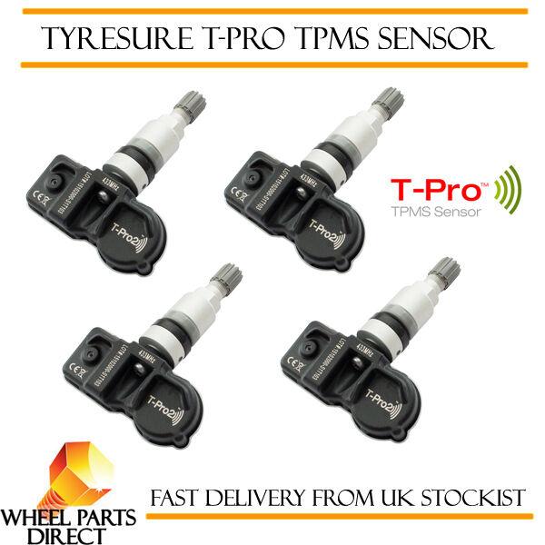 Capace Tpms Sensori (4) Tyresure T-pro Valvola Pressione Pneumatici Per Audi Rs6 [c7] 13-16