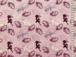 Jersey-034-Ballerinas-amp-Federn-034-rosa-Kinderstoff