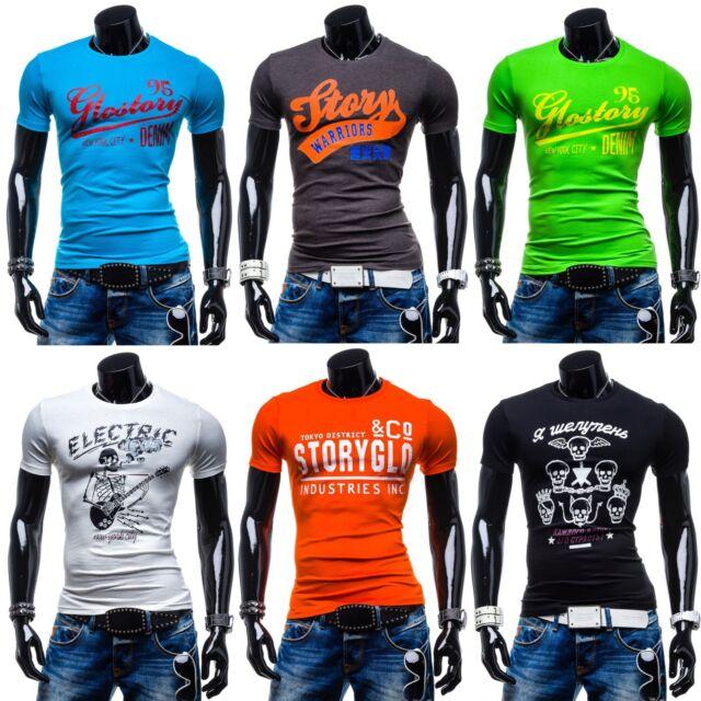 BOLF Glo-Story T-Shirt Kurzarm Motiv Freizeit Print Men Farbwahl MIX 3C3  School 2ffbd57f94