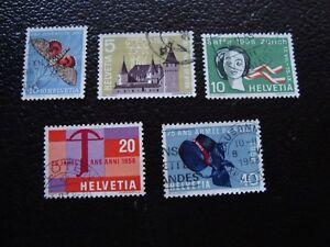 Switzerland-Stamp-Yvert-and-Tellier-N-601-A-605-Obl-A1-Stamp-Switzerland