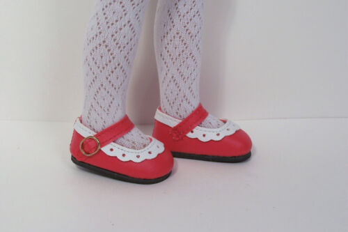 Debs 2-Tone RED /& WHITE Classic CF Doll Shoes For Dianna Effner Little Darling