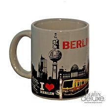 Berlin Tasse grau NEU Kaffee-Pott Henkel-Becher S-bahn Fernsehturm Souvenirs Mug