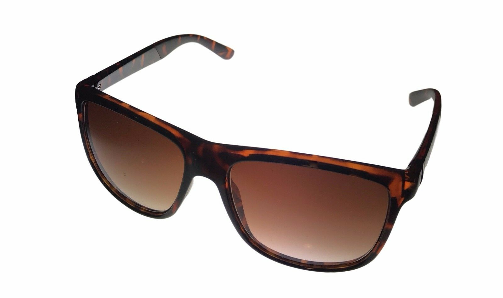 Kenneth Cole Reaction Mens Square Black Sunglass Light Brown