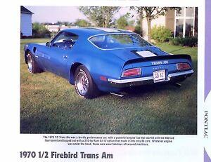 Details about 1970 1/2 Pontiac Firebird Trans Am 400 ci H O  Ram Air III,IV  info/specs/price