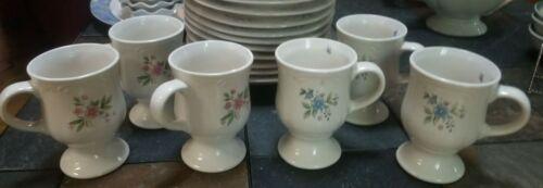 "1-6 Pfaltzgraff USA Meadow Lane Pedestal 5 /"" Tall Coffee Mugs Cups"