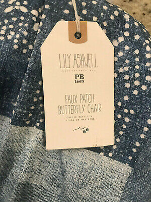 Pottery Barn Teen Lily Ashwell Print Faux Patch Butterfly