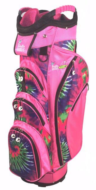 Birdie Babe Pinkadelic Pink Tie Dye Womens 14-way Ladies Cart Golf Bag w  Cooler 51601da02a