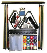 Billiard -  Pool Table Accessory Kit W Traditional Style Ball Set Black Finish