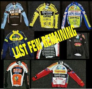 CLEARANCE-NEW-Belgian-amp-French-Team-Long-Sleeved-Cycling-Jersey-UK-STOCK
