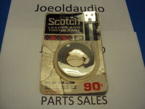 NOS-Vintage-Scotch-Reel-Leader-Timing-Tape-3M-1-4-x-100-Feet-Cat-No-24W-1-4-100