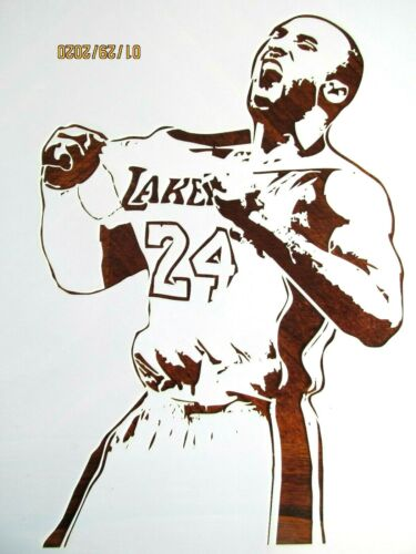 Kobe Bryant 3 Stencil//Template Reusable 10 mil Mylar Basketball Lakers MVP