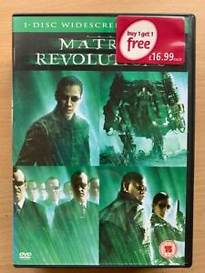 Keanu-Reeves-THE-MATRIX-REVOLUTIONS-Third-Part-3-Sci-Fi-Action-UK-DVD