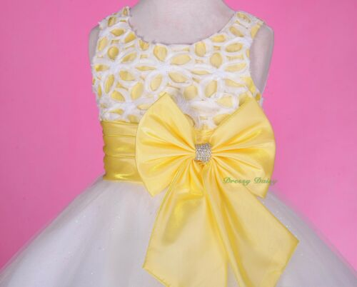 Tulle Sequined Formal Dresses Flower Girl Wedding Party Kid Size 3-8 #246