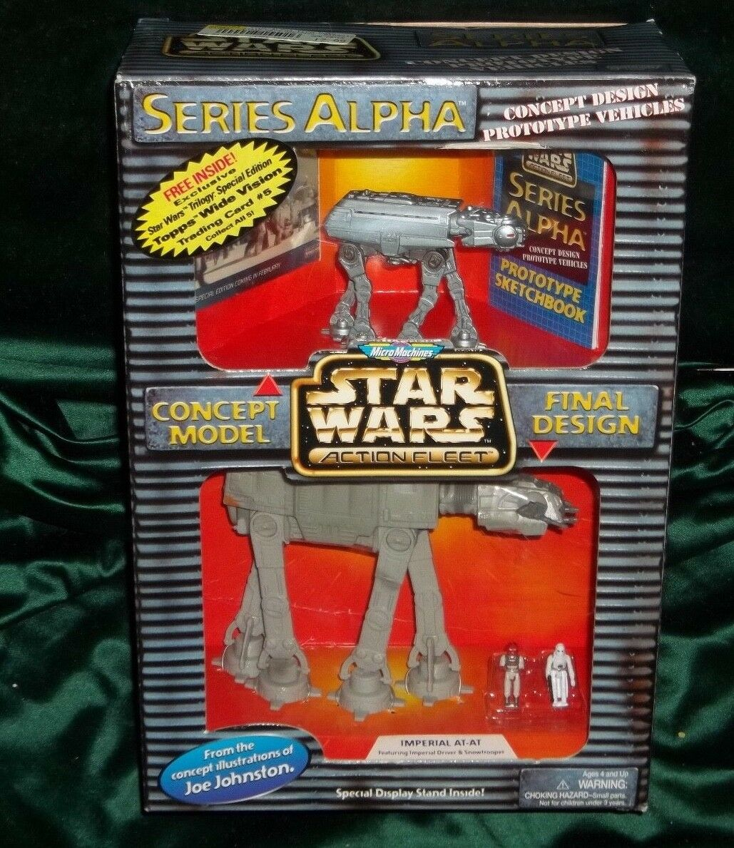 STAR WARS ACTION FLEET SERIES ALPHA IMPERIAL AT-AT SNOW WALKER W 2 MINI FIGURES
