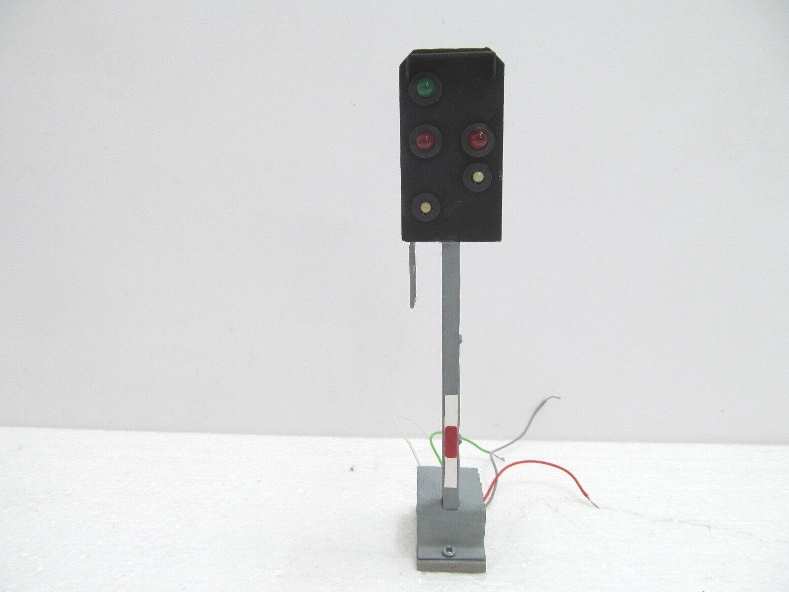 MES-49830 Spur 0 0 0 Lichtsignal Metall H ca 150mm mit Gebrauchsspuren, 34c9a4