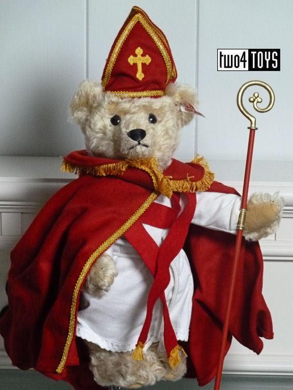 STEIFF SINTERKLAAS ST. NICHOLAS DUTCH MUSICAL TEDDY BEAR 10.6in. 27cm EAN 661068
