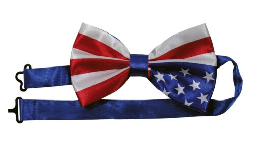 Forum Novelties Patriotic Bow Tie Costume Accessory Red White Blue USA Mens