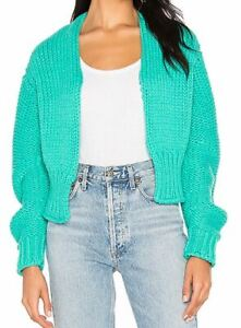 Women-039-s-NWT-Free-People-Blue-Glow-for-it-Cardigan-size-L