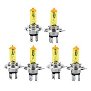 6x-H4-12V-100w-Yellow-3000K-HID-Xenon-Headlight-High-Low-Beam-Light-Bulb