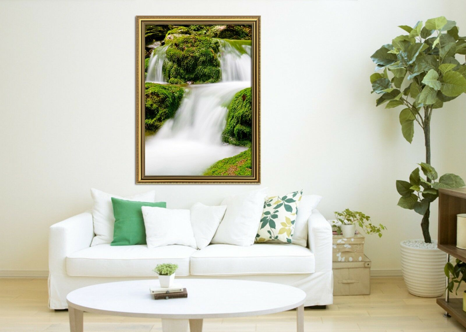 3D White Streams Plant 22 Framed Poster Home Decor Print Painting Art WALLPAPER