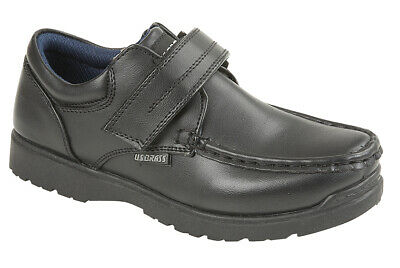 PICADILLY Boys Faux Leather Touch Close Lightweight Casual School Shoes Black