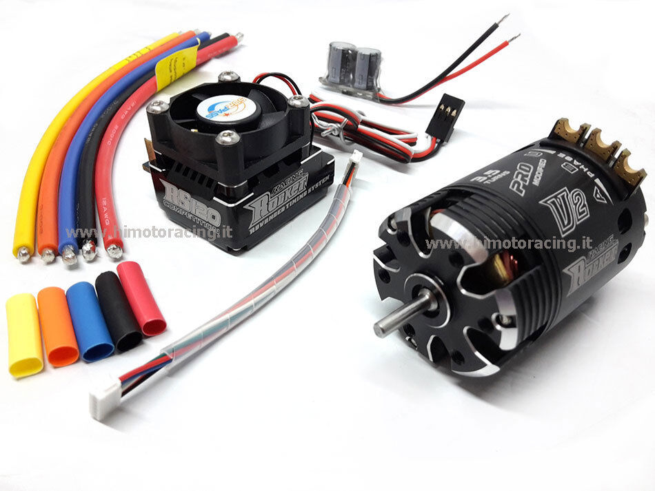 COMBO ROCKET BRUSHLESS SENSORI MOTORE 540 3.5T REGOLATORE 120A TURBO MODIFIERAD