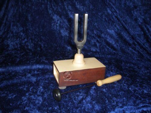 NEU Germany Tuning Fork Diapason Große Stimmgabel 1000 Hz auf Resonanzkasten