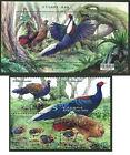 China Taiwan 2014 year Swinhoe Bird Conservation stamps+sheetlet 藍腹鷴