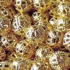 200 pieces 4mm Iron Finding Beads - Gold - A6741