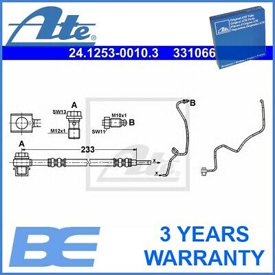 AUDI TT 8N Left 98 to 06 Hydraulic B/&B Quality 8N9 1.8 Brake Hose Rear Outer