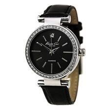 Kenneth Cole KC2898 Lady's Diamond Black Dial Black Band Watch