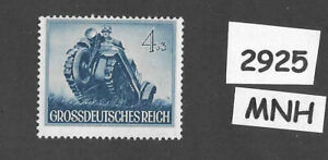 #2925     MNH stamp / 1944 /  PF04 + PF03 / Military Motorized / WWII Germany