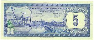 Netherlands-Antilles-1984-5-Gulden-P15b-Unc