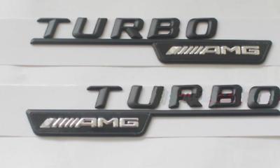 """Black /""""C43 Amg Biturbo/"""" Letras Adesivo Emblema Porta-malas Embl para Mercedes Benz 7#"""