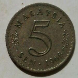 Parliament Series 5 sen coin 1968
