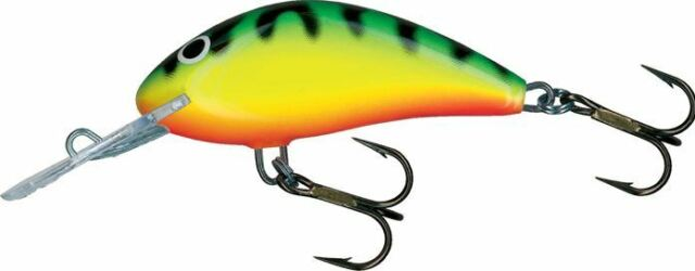 "Salmo Hornet # 9 Floating H9F-GT Green Tiger 3 1//2/"" 1 1//4 oz Crankbait"