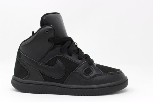 NIKE SON OF FORCE MID BOYS SHOES TRAINERS UK SIZE 10-2  BLACK 615161 021