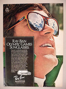 7772a343c6 Ray-Ban Olympic Games Sunglasses PRINT AD - 1976 ~ Bausch   Lomb