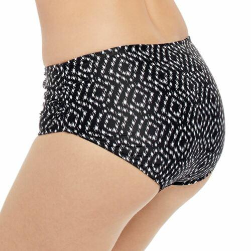 Fantasie Swimwear Byron Bay Deep Side Bikini Brief//Bottoms Black//Cream 6442