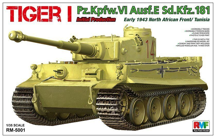Rye Field Model 5001 1 35 Tiger I Pz.Kpfw.VI Aust.E Initial Production 1943