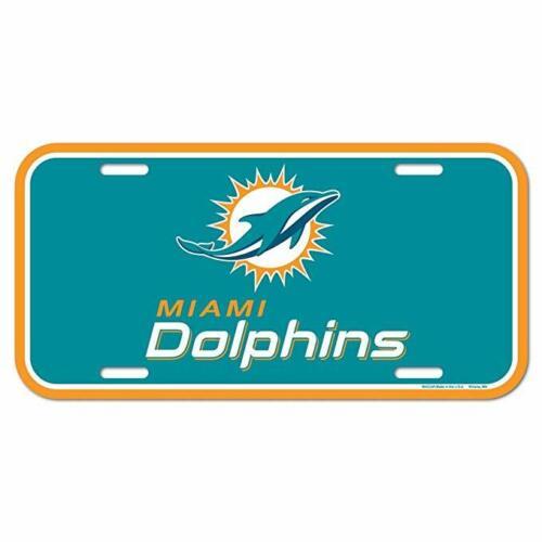 WinCraft NFL MIAMI DOLPHINS License Plate Schild NEU//OVP