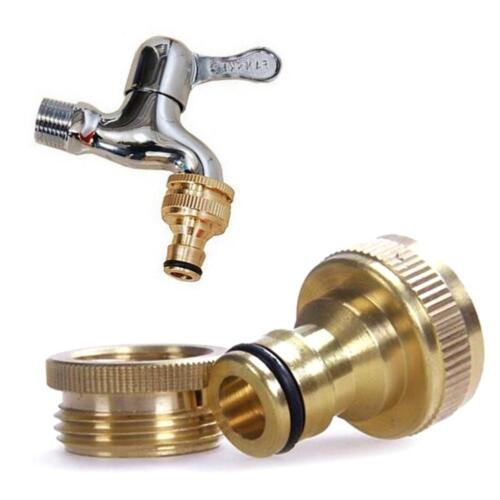 "3//4/"" SOLID BRASS GARDEN HOSE PIPE TAP ADAPTOR HOSEPIPE CONNECTOR OUTSIDE THREAD"