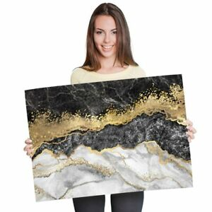 A1-Marble-Gold-Stone-Effect-Art-Poster-60X90cm180gsm-Print-21842